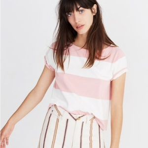 Madewell Setlist Boxy Top in Norfolk Stripe